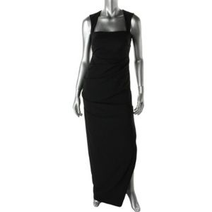 Nicole Miller Felicity Square Neck Gown
